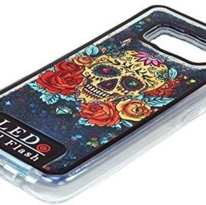 Cellphone case sugar skull LED flash